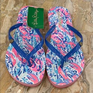 NWT Lilly Pulitzer Cosmic Coral flip flops